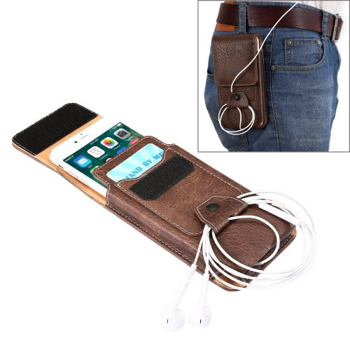 For iPhone 7 Plus Coffee Flip Retro Elephant Texture Leather Case & Buckle, Earphone Hole