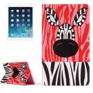 For iPad Air 2/iPad 6 Zebra Pattern Horizontal Flip Leather Case with Holder