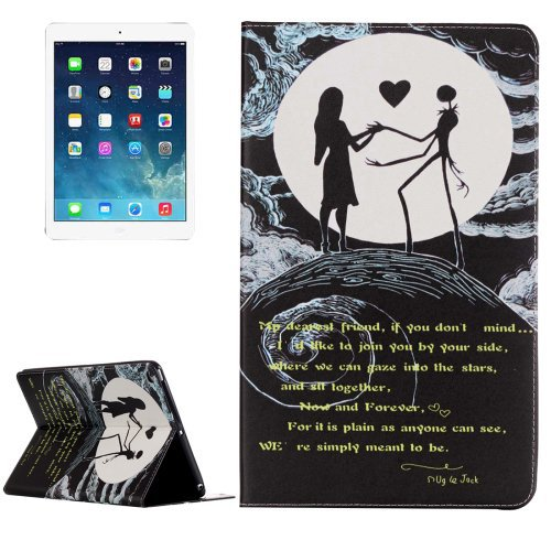 For iPad Air 2/iPad 6 Couple Pattern Horizontal Flip Leather Case with Holder