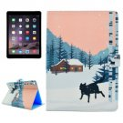For iPad Air 2/iPad 6 Snow Wolf Pattern Flip Leather Case with Holder, Card Slots & Wallet