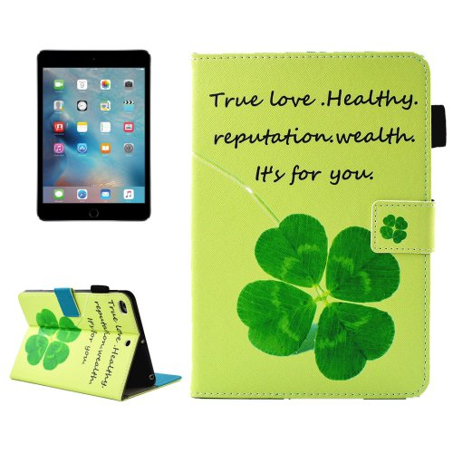 For iPad Mini 4/3/2/1 Clove Smart Cover Leather Case with Holder, Card/Pen Slots & Wallet