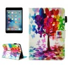 For iPad Mini 4/3/2/1 Tree Smart Cover Leather Case with Holder, Card/Pen Slots & Wallet
