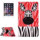 For IPad Mimi 4 Zebra  Pattern Horizontal Flip Leather Case with Holder