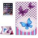 For IPad Mimi 4 Butterflies Pattern Horizontal Flip Leather Case with Holder