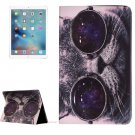 "For iPad Pro 12.9"" Glasses Cat Pattern Flip Leather Case with Holder"