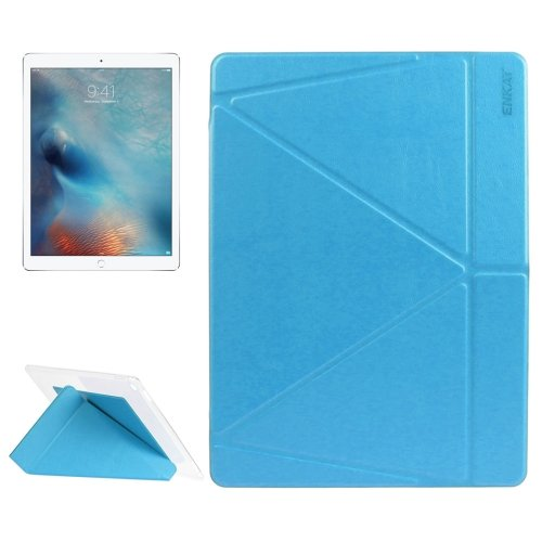 "For iPad Pro 12.9"" Blue ENKAY Transformers Smart Cover Leather Case with Holder"