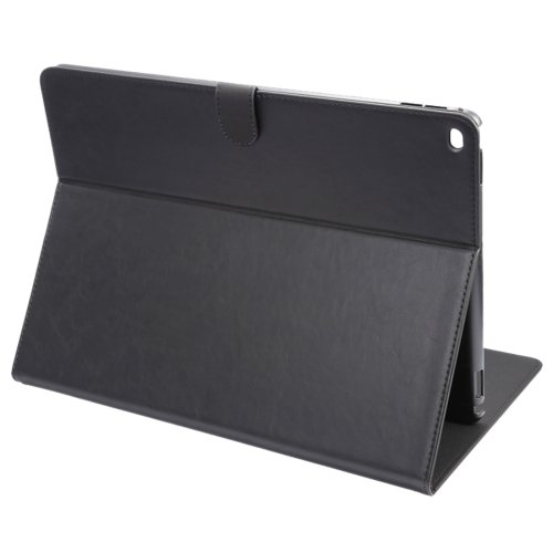 """For iPad Pro 12.9"""" Black ENKAY Crazy Horse Smart Cover Leather Case with Holder"""