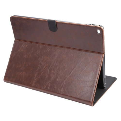 """For iPad Pro 12.9"""" Coffee ENKAY Crazy Horse Smart Cover Leather Case with Holder"""