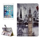 "For iPad Pro 12.9"" London Bridge Pattern Horizontal Flip Leather Case with Holder"