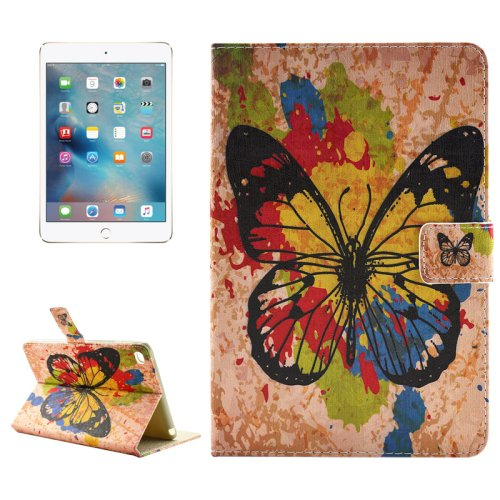 """For iPad Pro 12.9"""" Butterfly Pattern Horizontal Flip Leather Case with Holder"""