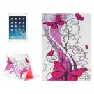 "For iPad Pro 12.9"" Red Butterfly Pattern Horizontal Flip Leather Case with Holder"