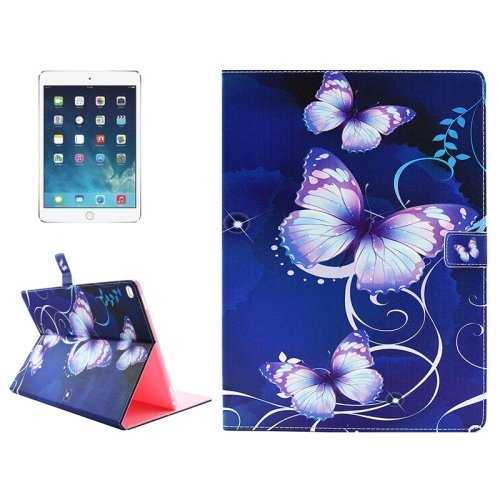 """For iPad Pro 12.9"""" Luminous Butterfly Pattern Horizontal Flip Leather Case with Holder"""