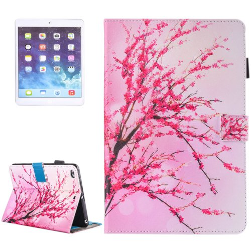 For iPad Air 2/iPad 6 Blossom Pattern Leather Case with Holder, Card/Pen Slots & Wallet