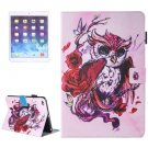 For iPad Air 2/iPad 6 Butterfly Pattern Leather Case with Holder, Card/Pen Slots & Wallet