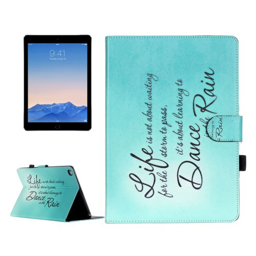 For iPad Air 2/iPad 6 Rain Pattern Flip Leather Case with Holder & Card Slots & Wallet