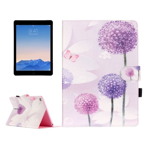 For iPad Air 2/iPad 6 Dandelion Pattern Flip Leather Case with Holder & Card Slots & Wallet