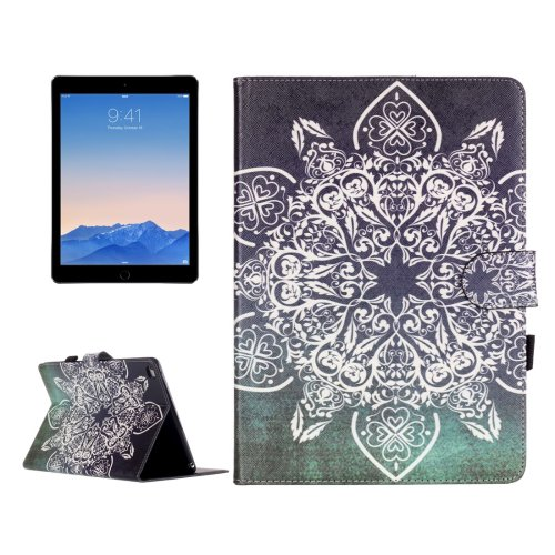 For iPad Air 2/iPad 6 Retro Pattern Flip Leather Case with Holder & Card Slots & Wallet