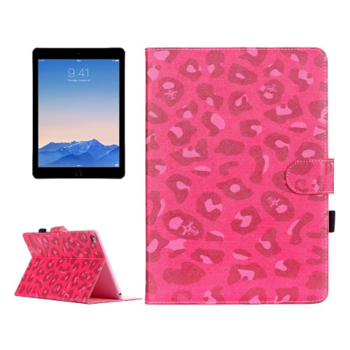 For iPad Air 2/iPad 6 Leopard 2 Pattern Flip Leather Case with Holder & Card Slots & Wallet