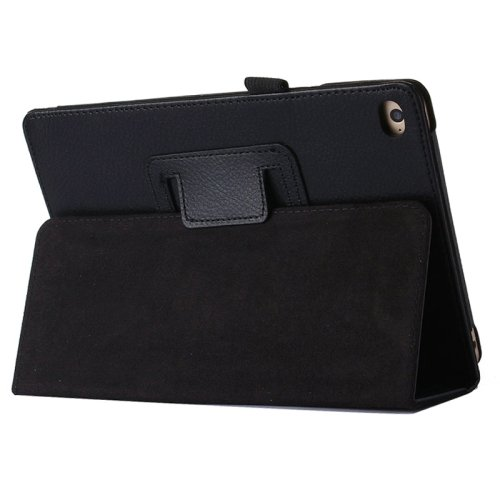 """For iPad Pro 12.9"""" Black Litchi Texture Flip PU Leather Protective Case with Holder"""