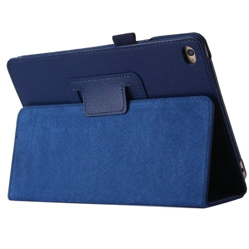 """For iPad Pro 12.9"""" Dark Blue Litchi Texture Flip PU Leather Protective Case with Holder"""