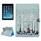 For iPad Air/iPad 5 Forest Fox Pattern Leather Case with Holder; Card Slots & Wallet