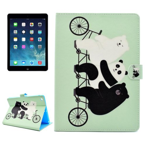 For iPad Air/iPad 5 Cute Bear Pattern Leather Case with Holder; Card Slots & Wallet