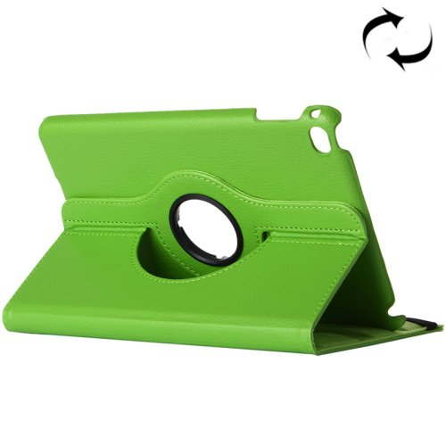 """For iPad Pro 12.9"""" Green Litchi Smart Cover Leather Protective Case with Rotating Holder"""
