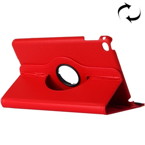 """For iPad Pro 12.9"""" Red Litchi Smart Cover Leather Protective Case with Rotating Holder"""
