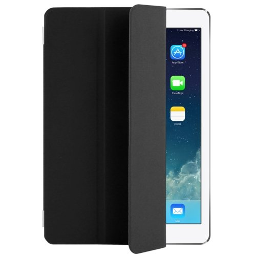 "For iPad Pro 9.7"" Black Single Side Polyurethane Smart Cover with 3-Folding Holder"