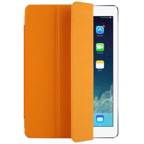 """For iPad Pro 9.7"""" Orange Single Side Polyurethane Smart Cover with 3-Folding Holder"""