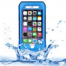 iPhone 6 Plus Blue RIYO IP68 Waterproof Shockproof Dustproof Snowproof Case with Holder & Lanyard