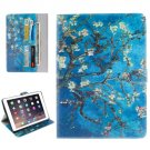 """For iPad Pro 9.7"""" Plum Pattern Flip Leather Case with Holder, Card Slots & Wallet"""