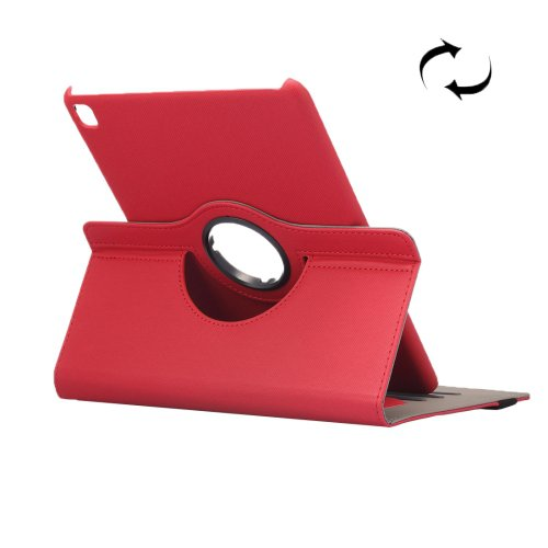 "For iPad Pro 9.7"" Red Cloth Smart Cover Leather Case with Rotating Holder, Card Slots"