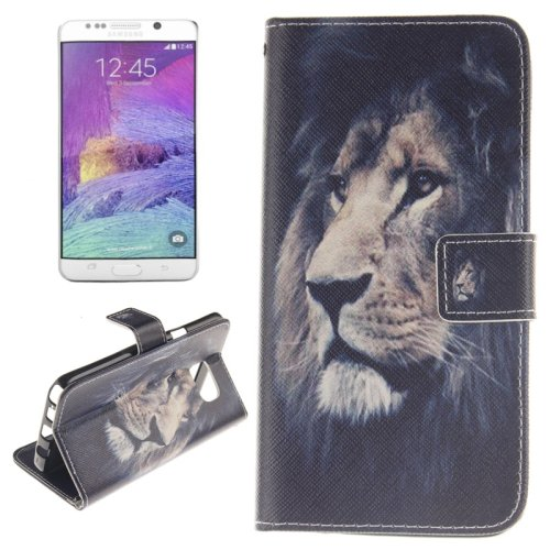For Galaxy Note 5 Lion 2 side Leather Case with Card Slots, Holder & Wallet