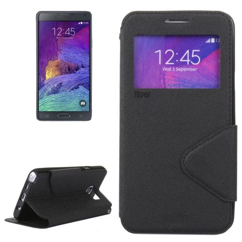For Galaxy Note 5 Black Cross Flip Leather Case with Holder & Card Slot