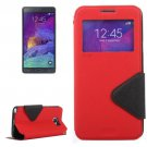 For Galaxy Note 5 Red Cross Flip Leather Case with Holder & Card Slot
