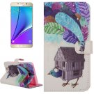 For Galaxy Note 5 Poult House Diamond Leather Case with Holder, Wallet & Card Slots