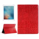 "For iPad Pro 9.7"" Red Crocodile Flip Leather Case with Holder & Card Slots & Wallet"