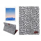 "For iPad Pro 9.7"" White Leopard Leather Smart Case with Holder, Card Slots & Wallet"