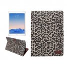 "For iPad Pro 9.7"" Brown Leopard Leather Smart Case with Holder, Card Slots & Wallet"