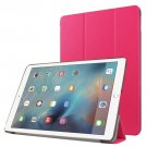 "For iPad Pro 9.7"" Magenta Custer Flip Leather Smart Case with 3 Folding Holder"