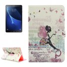 For Tab A 10.1/P580 Fairy Pattern Diamond Leather Case with Holder