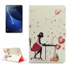 For Tab A 10.1/P580 Working Girl Pattern Diamond Leather Case with Holder