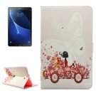 For Tab A 10.1/P580 Driving Girl Pattern Diamond Leather Case with Holder
