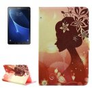 For Tab A 10.1/T580 Silhouette Pattern Diamond Leather Case with Holder