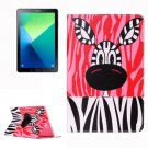 For Tab A 10.1/P580 Zebra Pattern Leather Case with Holder, Card Slots & Wallet