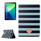 For Tab A 10.1/P580 stripe and Heart Leather Case with Holder, Card Slots & Wallet