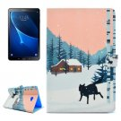 For Tab A 10.1/T580/85 Snow Wolf Pattern Flip Leather Case with Holder, Card Slots & Wallet
