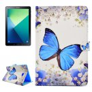 For Tab A 10.1/P580 Butterfly Pattern Flip Leather Case with Holder, Card Slots & Wallet