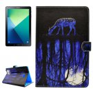 For Tab A 10.1/P580 Reflection Pattern Flip Leather Case with Holder, Card Slots & Wallet